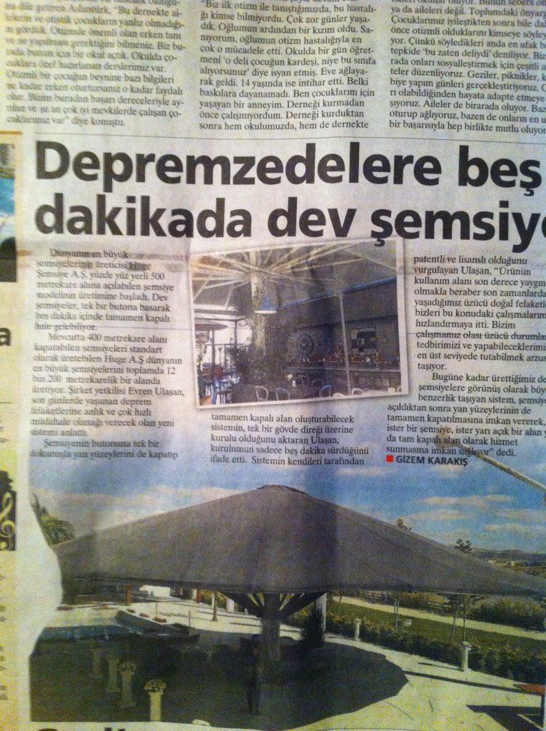 milliyet gazetesi huge dev semsiye